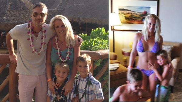 Britney Spears, Jason Trawick and the singers sons Sean Preston and Jayden James appear in photos from their vacation in Hawaii, posted on Spears official Twitter profile on July 4 and July 5, 2012. - Provided courtesy of pic.twitter.com/uqZWEpgO / http://pic.twitter.com/SwFhSwm4