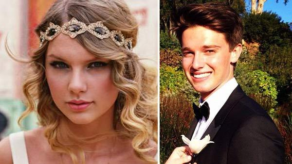 Taylor Swift appears in an undated photo from her official website, TaylorSwift.com. / Patrick Schwarzenegger appears in a photo poste on his official Twitter page on April 30, 2012. - Provided courtesy of TaylorSwift.com / Twitter.com/PSchwarzenegger