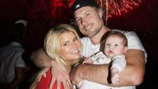 Jessica Simpson, her fiance Eric Johnson and their daughter Maxwell Drew appear in a photo posted on the singers official Twitter page on July 5, 2012. - Provided courtesy of Twitter.com/JessicaSimpson