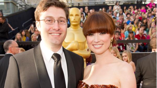 Michael Koman and Ellie Kemper arrive for the 84th Annual Academy Awards from Hollywood, CA February 26, 2012. - Provided courtesy of Richard Harbaugh / A.M.P.A.S.