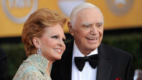 Ernest Borgnine and his wife Tova Borgnine arrive at the 17th Annual Screen Actors Guild Awards on Sunday, Jan. 30, 2011 in Los Angeles.