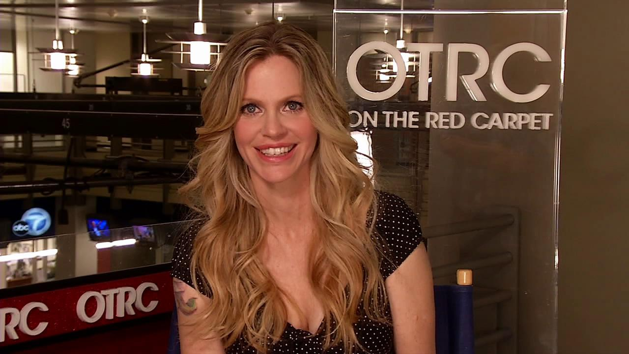 Kristin Bauer van Straten talks to OnTheRedCarpet.com at the KABC Television studios in Glendale, California on July 9, 2012.