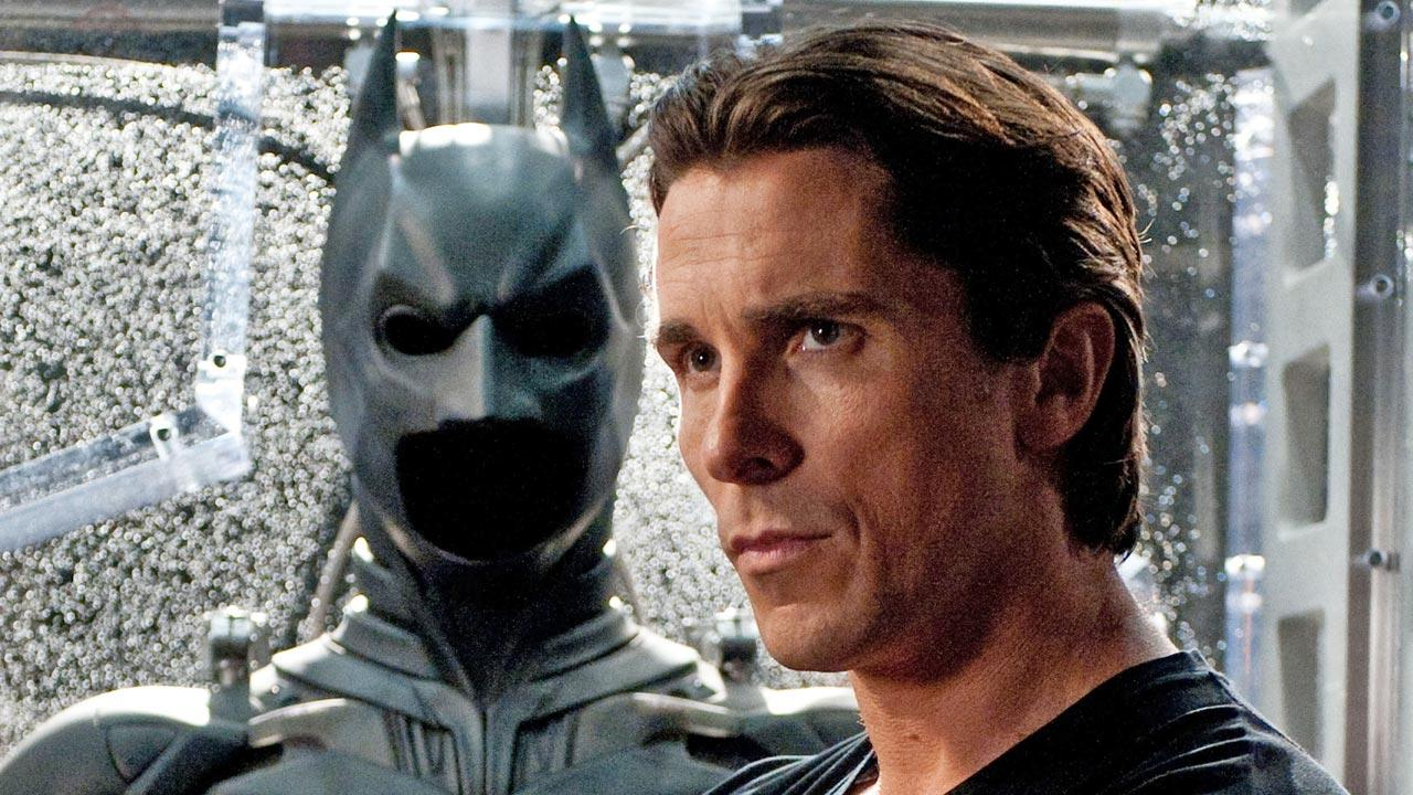 Christian Bale appears in a scene from the 2012 film The Dark Knight Rises.