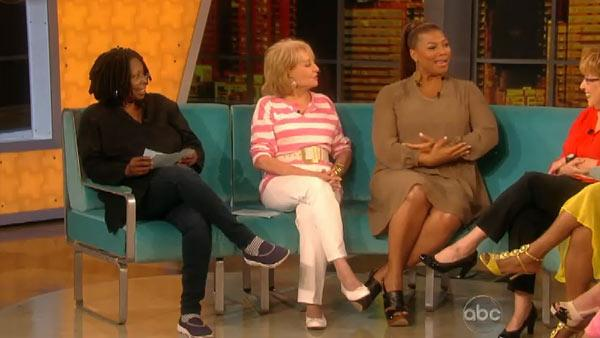 From left: Whoopi Goldberg, Barbar Walters, Queen Latifah and Joy Behar appear on a July 11, 2012 episode of ABCs The View. - Provided courtesy of ABC
