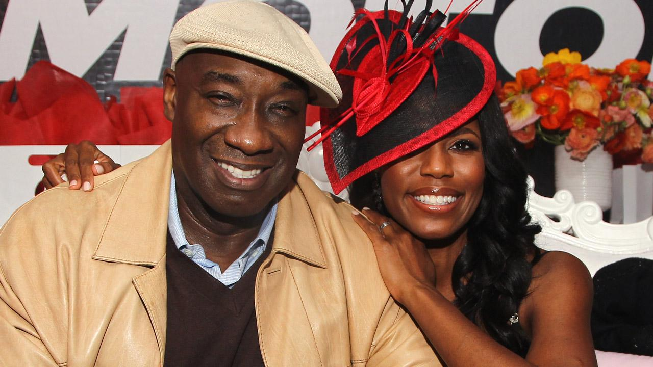 Michael Clarke Duncan, left, and Omarosa attend Perez Hiltons 34th Birthday and Mad Hatters Ball, Saturday, March 24, 2012, at Siren Studios, in Los Angeles.