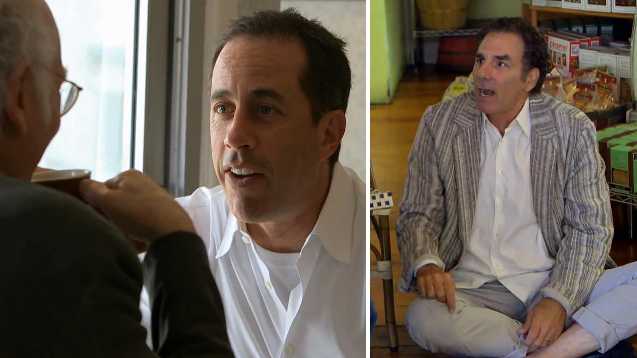 From left: Larry David, Jerry Seinfeld and Michael Richards appear in the Crackle web series Comedians in Cars Getting Coffee, which debuts on July 19, 2012.