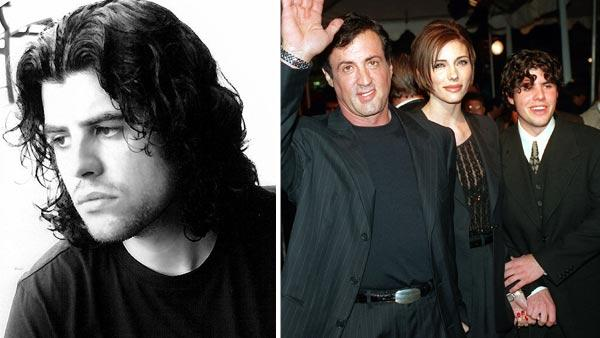 Sage Stallone appears in a 2007 photo posted on his MySpace profile. / Sylvester Stallone, arrives at the premiere of Daylight with Jennifer Flavin and son Sage Stallone on Dec. 5, 1996. - Provided courtesy of Myspace.com/sagestallone