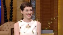 Anne Hathaway appears during an interview on Live! With Kelly on July 12, 2012. - Provided courtesy of ABC
