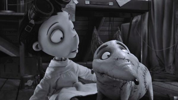 A still from Frankenweenie.