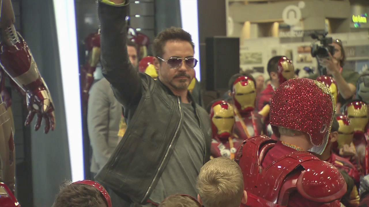 Robert Downey Jr. surprises fans at San Diego Comic-Con on July 14, 2012.