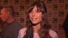 Jessica Biel talks about Total Recall at San Diego Comic-Con on July 13, 2012. - Provided courtesy of none / Columbia Pictures