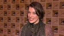Milla Jovovitch talks about Resident Evil: Retribution at San Diego Comic-Con on July 13, 2012. - Provided courtesy of none / Screen Gems