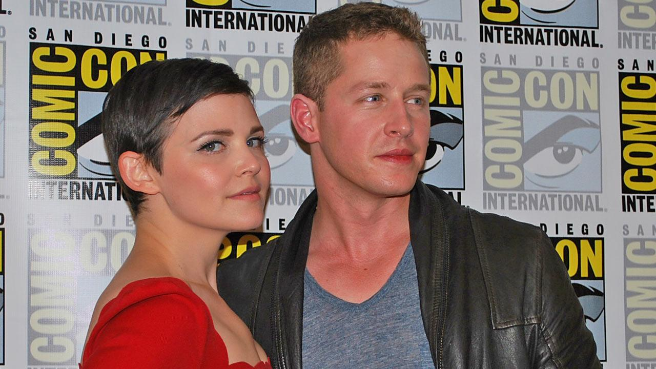 Ginnifer Goodwin and Josh Dallas appear at Comic-Con on July 14, 2012, for the Once Upon A Time panel.