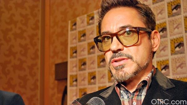 Robert Downey Jr. appears at the Iron Man 3 panel at San Diego Comic-Con on July 14, 2012. - Provided courtesy of Marvel