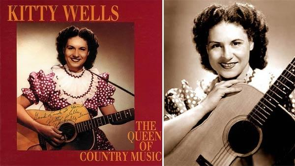 Kitty Wells appears on the cover of her 1993 box set The Queen Of Country Music 1949-1958. / Kitty Wells appears in an undated publicity photo. - Provided courtesy of Bear Family