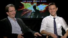 Gary Oldmand and Joseph Gordon Levitt talk to OnTheRedCarpet.com about The Dark Knight Rises in a junket interview on July 9, 2012. - Provided courtesy of OTRC