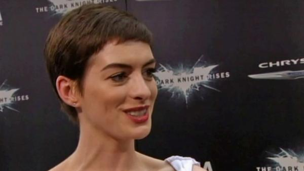 Anne Hathaway at 'The Dark Knight Rises' premiere