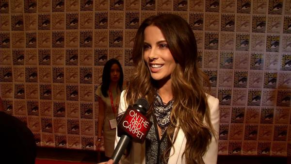 Kate Beckinsale talks to OnTheRedCarpet.com about Total Recall at San Diego Comic-Con on July 13, 2012. - Provided courtesy of OTRC