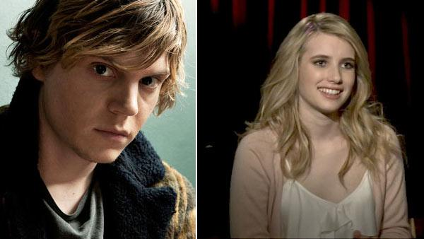 Evan Peters appears in a still from a 2011 episode of American Horror Story. / Emma Roberts chats about her Scream 4 audition process and reveals which family was too scared of the film. - Provided courtesy of FX / OTRC