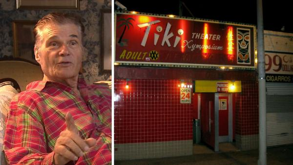 Fred Willard appears in an interview with KABC Television in July 2012. / A picture of the Tiki Theatre, as seen in March 2010. - Provided courtesy of KABC / flickr.com/photos/toestubber/