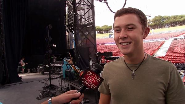 Scotty McCreery talks to OnTheRedCarpet.com about his summer concert tour, college and American Idol on July 18, 2012. - Provided courtesy of OTRC / OTRC