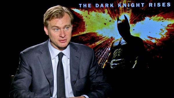 Christopher Nolan talks to OnTheRedCarpet.com about The Dark Knight Rises in a junket interview on July 7, 2012. - Provided courtesy of OTRC