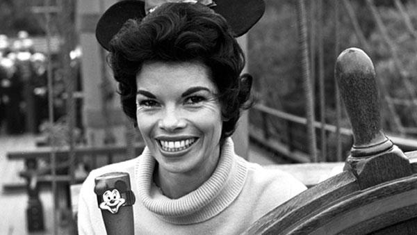 Ginny Tyler appears in an undated publicity photo for 'The Mickey Mouse Club.'