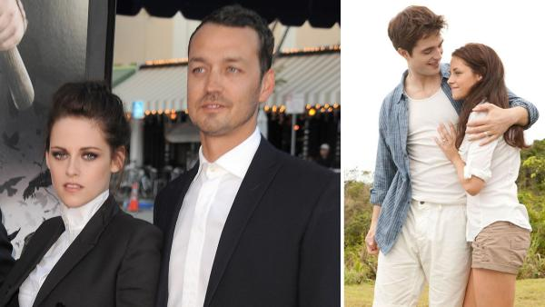 Actress Kristen Stewart and director Rupert Sanders attend the 'Snow White and the Huntsman' screening on Tuesday, May 29, 2012 in Los Angeles. / Kristen Stewart and Robert Pattinson appear in a scene from 'The Twilight Saga: Breaking Dawn - Part 1.'