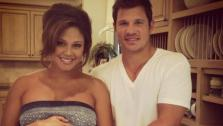 Vanessa and Nick Lachey appear in a photo posted on Minnillos official Twitter account on July 25, 2012. - Provided courtesy of twitter.com/VanessaLachey