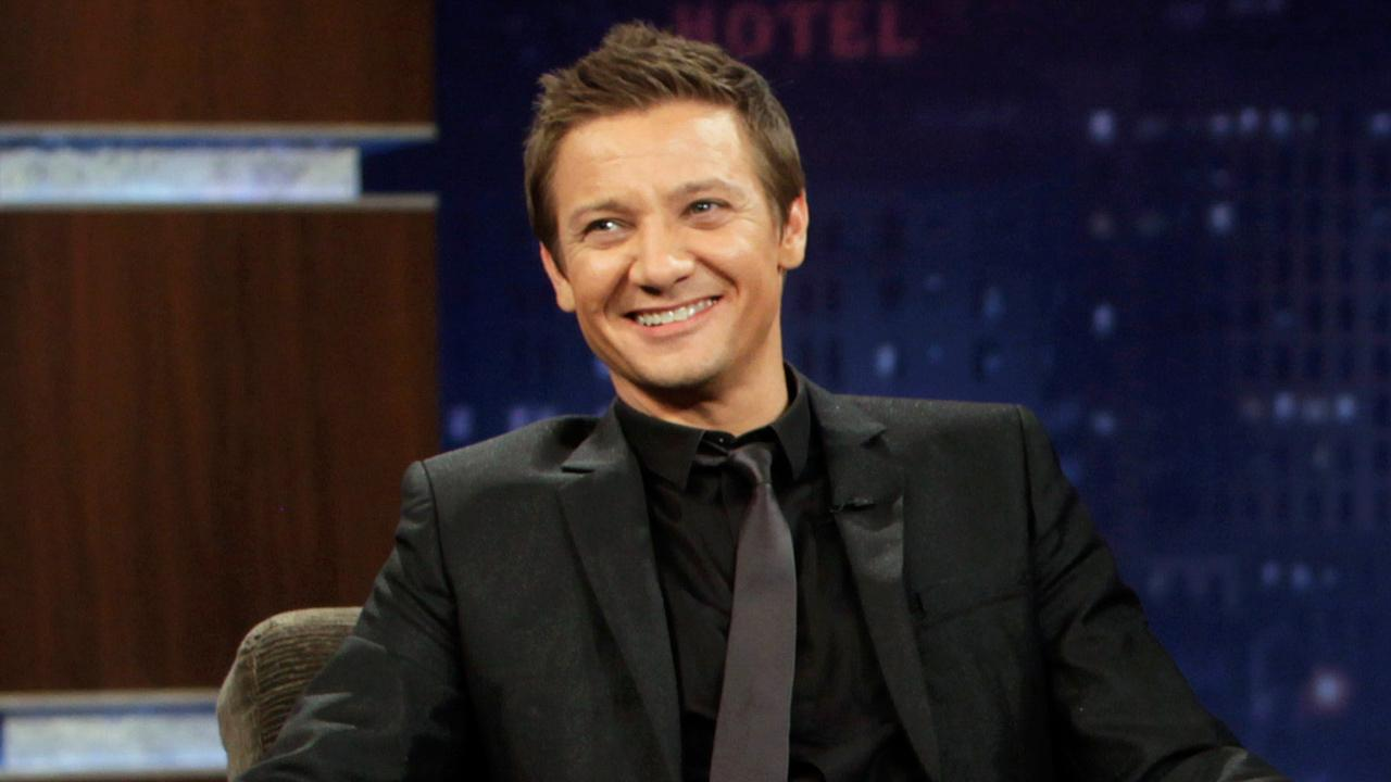Jeremy Renner, Oscar-nominee for Performance by an Actor in a Supporting Role for The Hurt Locker, appeared on the Jimmy Kimmel Live! show on July 25, 2012.
