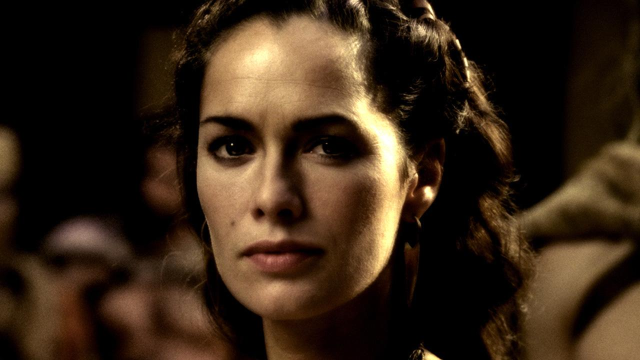 Lena Headey appears in a still from the 2007 film, 300.