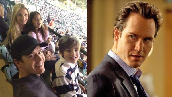 Mark-Paul Gosselaar, Catriona McGinn and his children Michael Charles and Ava Lorenn appear in a photo posted on the actor's official Twitter page on February 4, 2012. / Mark-Paul Gosselaar appears in a scene from the TNT show 'Franklin and Bash.'