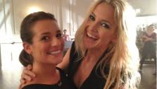 Lea Michele and Kate Hudson appear in a photo posted on Ryan Murphys official Twitter page on July 30, 2012. - Provided courtesy of pic.twitter.com/NCjHnkWC
