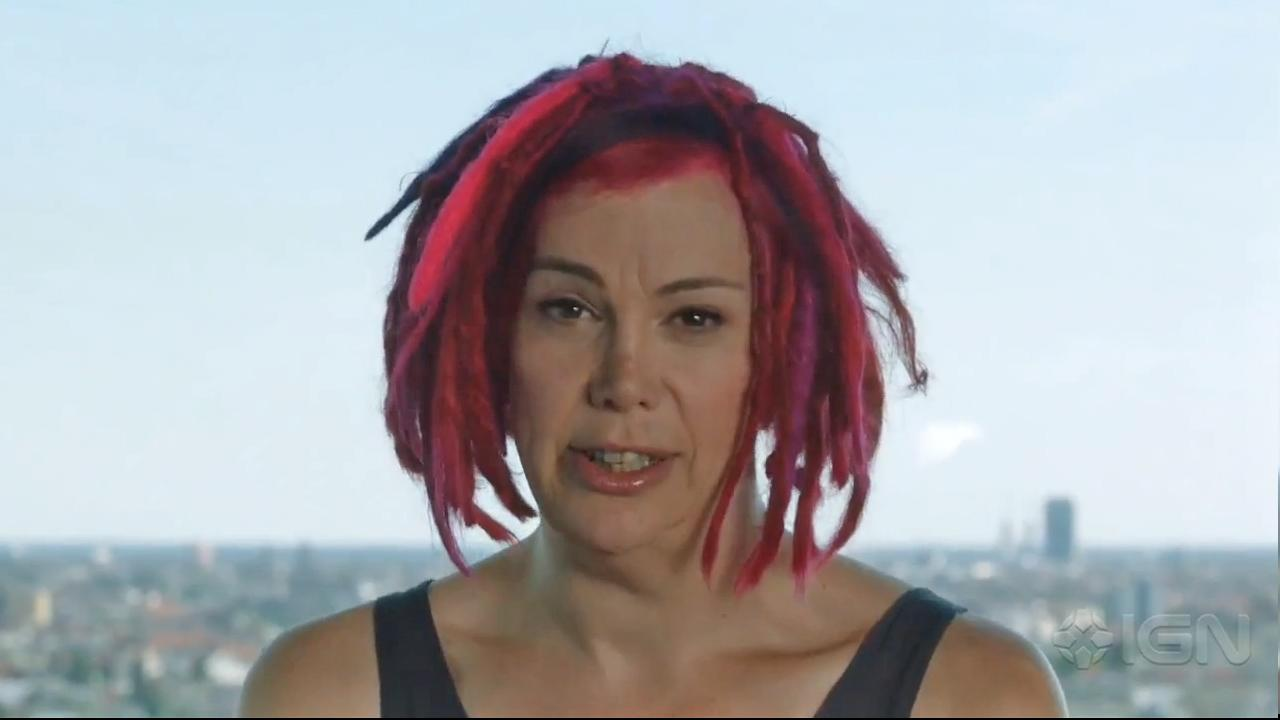 Lana Wachowski appears in a still from the Directors Commentary for her Cloud Atlas trailer, which debuted on July 27, 2012.