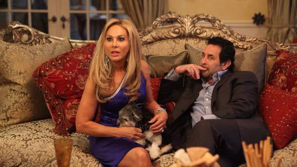 Adrienne Maloof and Paul Nassif appear in a still from The Real Housewives of Beverly Hills. - Provided courtesy of Evans Vistal Ward / Bravo