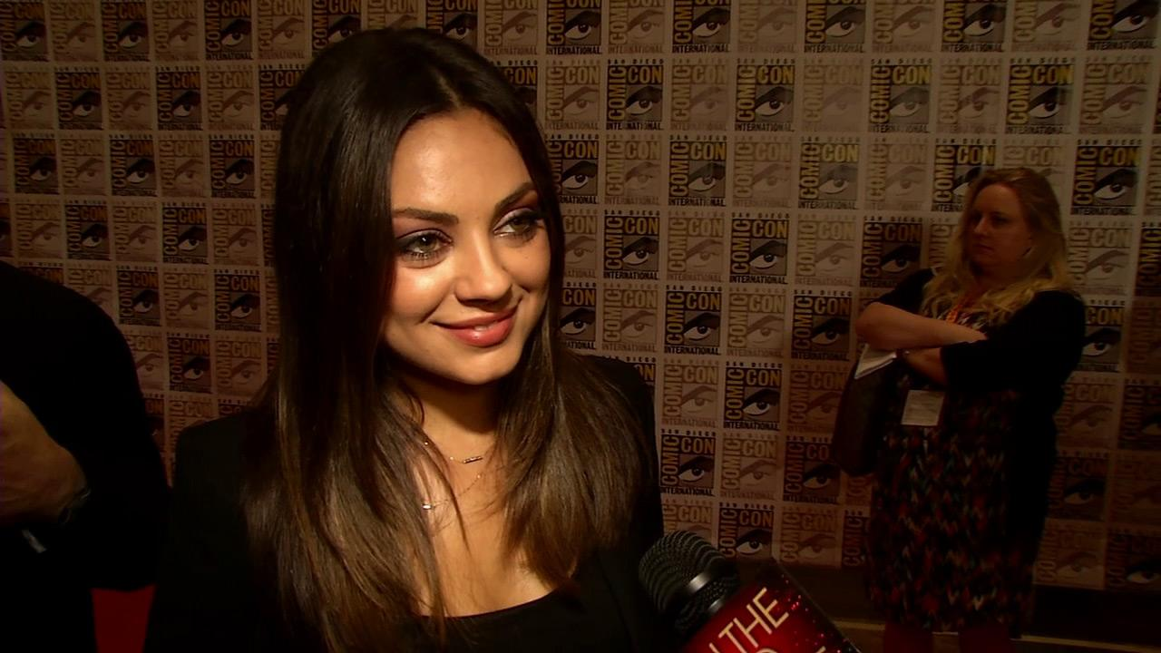 Mila Kunis talks to OnTheRedCarpet.com at San Diego on July 13, 2012.Disney