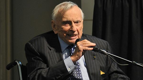 Gore Vidal appears at Barnes and Noble in Union Square in New York City on Oct. 21, 2009.
