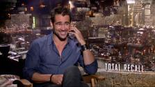 Colin Farrell talks to OnTheRedCarpet.com about Total Recall in a July 2012 press junket for the film. - Provided courtesy of OTRC