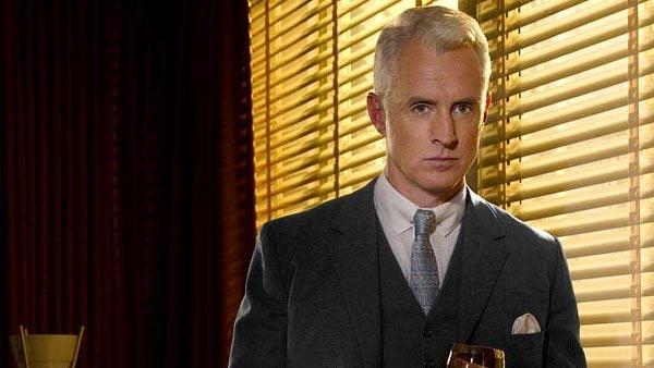 John Slattery appears in a scene from the AMC 1960s-era drama show 'Mad Men' in 2010.