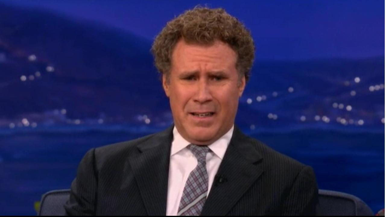 Will Ferrell appears in a still from the August 2, 2012 episode of Conan.
