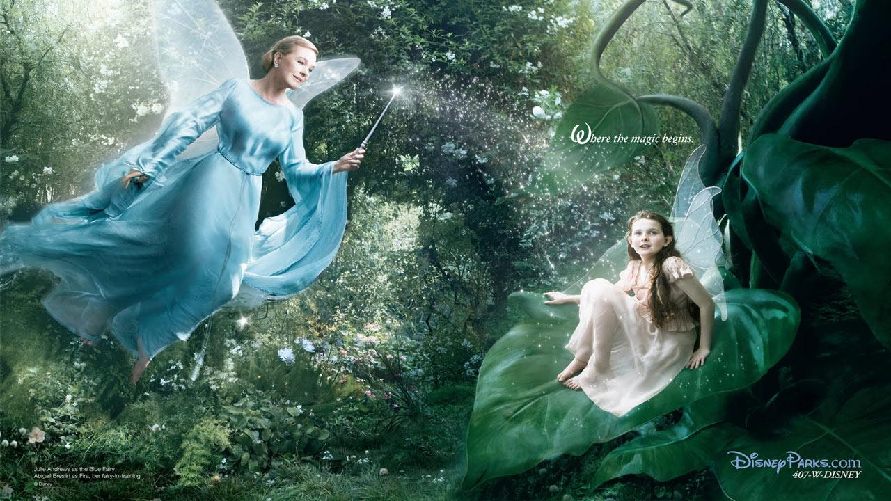 Where Magic Begins with Julie Andrews as the Blue Fairy and Abigail Braslin as Fira.Disney Enterprises Inc. / Annie Leibowitz