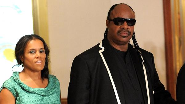 Singer Stevie Wonder and Kai Millard Morris attend the 2009 White House Correspondents' Dinner at the Washington Hilton on Saturday, May 9, 2009 in Washington.