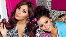 Nicole Snooki Polizzi and Jennifer JWoww Farley appear in a promotional photo for Snooki & Jwoww in 2012. - Provided courtesy of MTV