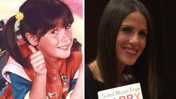 Soleil Moon Frye appears in a promotional photo for the series 'Punky Brewster.' / Soleil Moon Frye appears at a book signing event at Barnes and Noble in Los Angeles on Aug. 31, 2011 to promote her 2011 memoir 'Happy Chaos.'