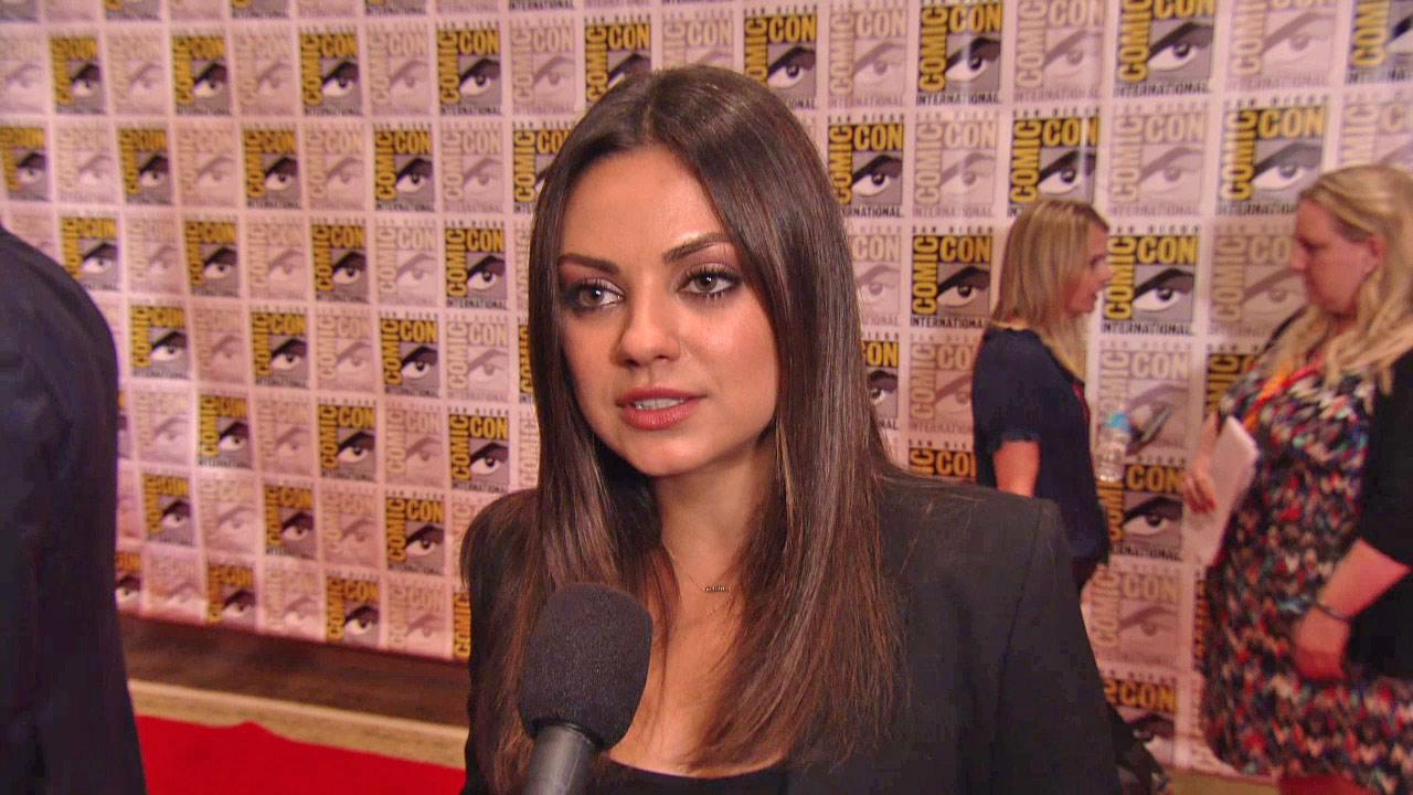 Mila Kunis talks to OnTheRedCarpet.com at San Diego on July 13, 2012.