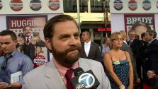 Zach Galifianakis talks to OnTheRedCarpet.com at the Los Angeles premiere of the Will Ferrell comedy movie The Campaign on Aug. 2, 2012. - Provided courtesy of OTRC