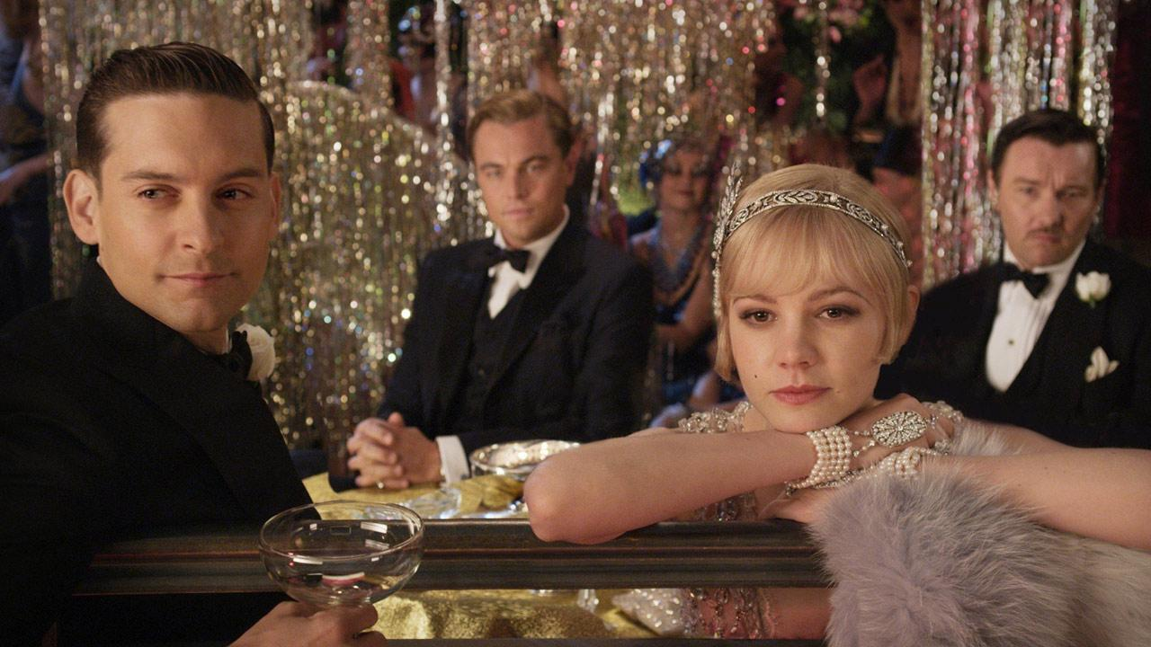 Leonardo DiCaprio, Carey Mulligan and Tobey Maguire appear in a photo from their upcoming 2012 film The Great Gatsby.