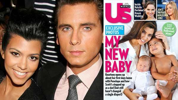 In this photo Kourtney Kardashian and Scott Disick attend the showing of the Jill Stuart spring 2011 collection in New York, Saturday, Sept. 11, 2010. / Kourtney Kardashian appears on the cover of Us Weeklys August 8, 2012 issue. - Provided courtesy of Starpix, Dave Allocca / Us Weekly