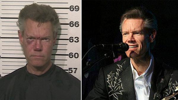 Randy Travis appears in this booking photo released by the Grayson County Sheriffs Office on Aug. 7, 2012. / Randy Travis appears in concert at the French Lick Resort in Indiana on Dec. 5, 2008. - Provided courtesy of Grayson County Sheriffs Office