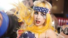 Lady Gaga appears in the 2011 video for Telephone. - Provided courtesy of Interscope